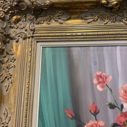 Stunning Belgian Oil On Canvas Still Life In Ornate Gilt Frame image-4