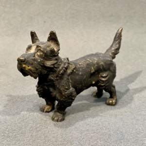 Cold Painted Bronze Scottish Terrier