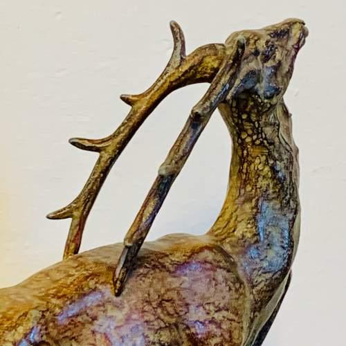 Art Deco Spelter Deer on a Marble Base image-5