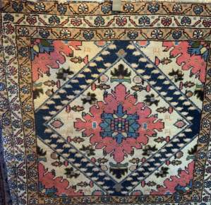 Unusual Old Hand Knotted Persian Rug Hamadan Area Lovely Colours