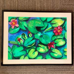Annie Doherty Original Painting of Water Lillies