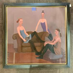 Philip Davies Oil on Canvas Painting News from Nowhere