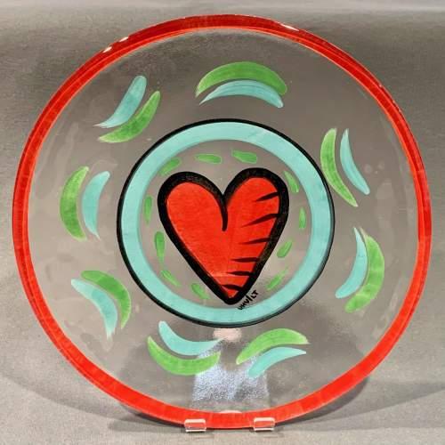 Hand Painted Kosta Boda Glass Plate image-1