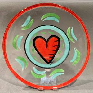 Hand Painted Kosta Boda Glass Plate