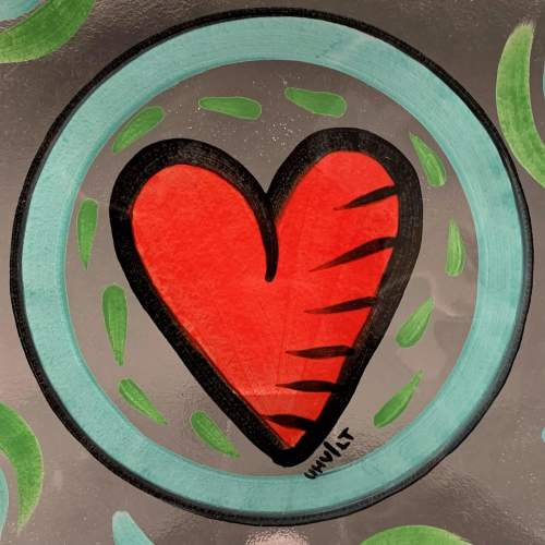 Hand Painted Kosta Boda Glass Plate image-2