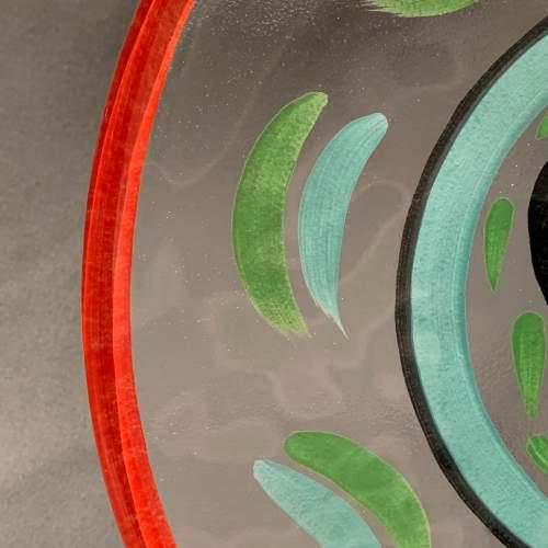 Hand Painted Kosta Boda Glass Plate image-3