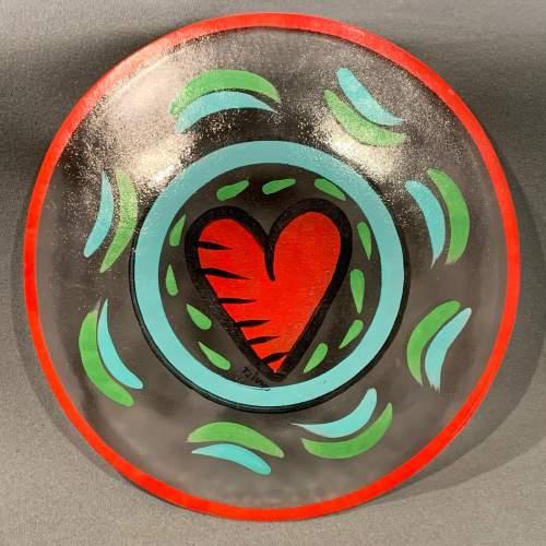 Hand Painted Kosta Boda Glass Plate image-4