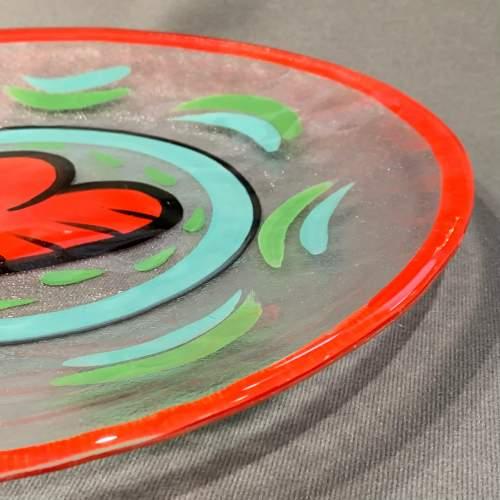 Hand Painted Kosta Boda Glass Plate image-5
