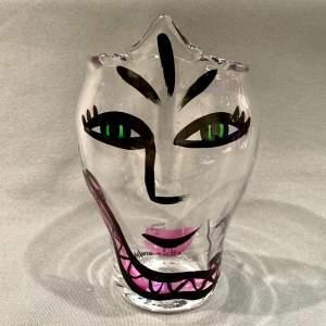 Kosta Boda Open Minds Pink Snake Glass Vase