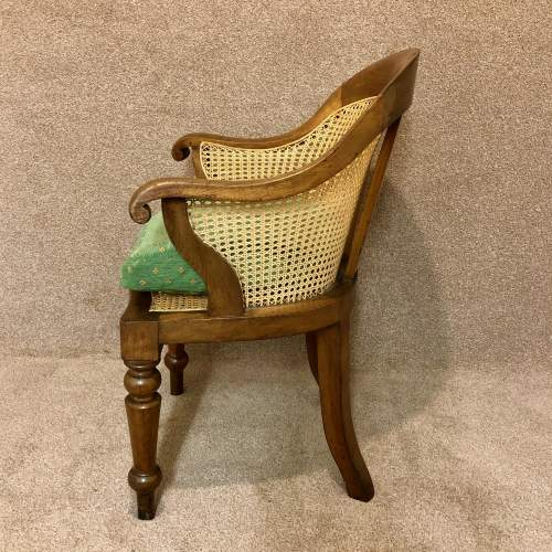 Early 19th Century Bergere Desk Chair image-5