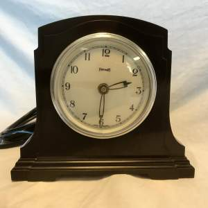 Art Deco Ferranti 240 Volt Mains Operated Bakelite Clock Circa 1930