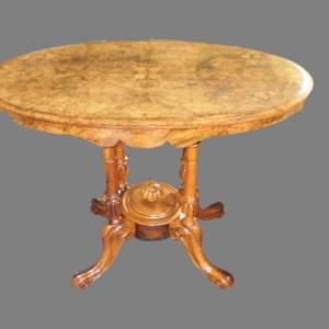 A Victorian Burr Walnut Centre Table