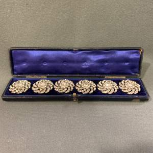19th Century French Silver and Paste Buttons