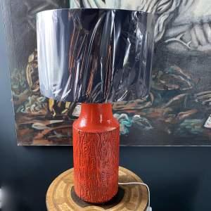 Vintage Carstens Keramik Reptile Relief Lamp By Dieter Peter