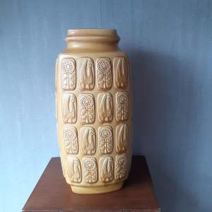 West German Ceramic Floor Vase by Bay Ceramics