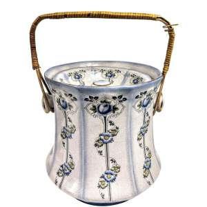 Victorian Porcelain Slop Bucket with Lid