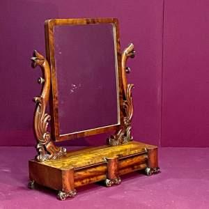 William IV Period Mahogany Dressing Table Mirror