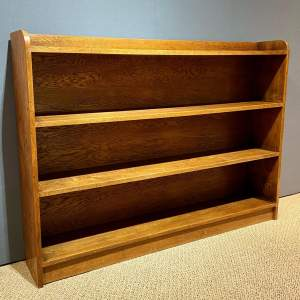 Mid 20th Century Oak Freestanding Open Bookcase