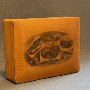 Victorian Mauchline Ware Box from Whitby