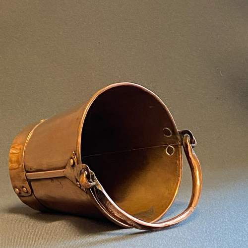 Early 20th Century Small Copper Bucket image-2