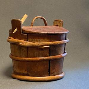 19th Century Swedish Coopered Cheese Barrel with Original Lid
