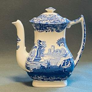 Spode Blue Italian Coffee Pot