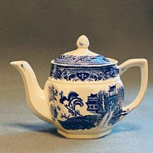 Henry Alcock and Co Real Willow Victorian Teapot