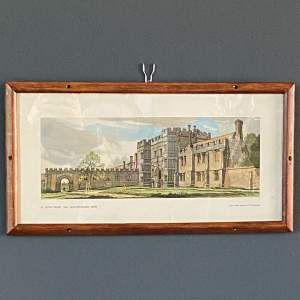 St Osyth Priory Essex Original Railway Carriage Print