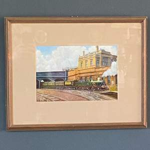 GWR Armstrong Queen Class Locomotive Oil Painting By J.D Goffey