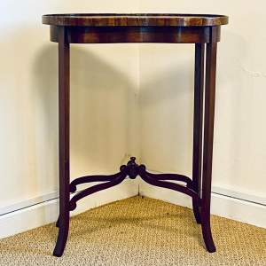 Edwardian Kidney Shaped Mahogany Occasional Table