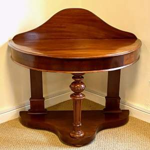 19th Century Mahogany Demi Lune Table