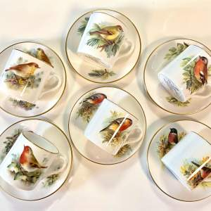Royal Worcester Best Loved Birds Collection of Six Cups and Saucers