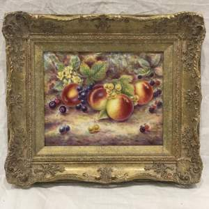 Harcourt China Still Life Of Mixed Fruit Hand Painted C Burns