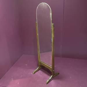 1940-50s Mahogany Framed Cheval Mirror