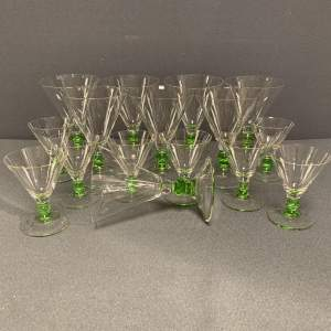 Set of Art Deco French Cocktail Glasses