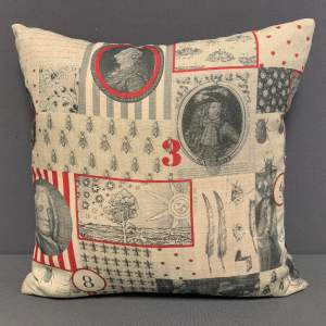 French Graphic Cushion