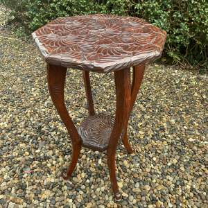 Liberty and Co Japanese Carved Occasional Table