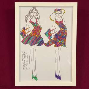 R. Jennings - Framed - Fashion Illustration