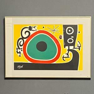 Joan Miro Screen Print in Aluminium Frame