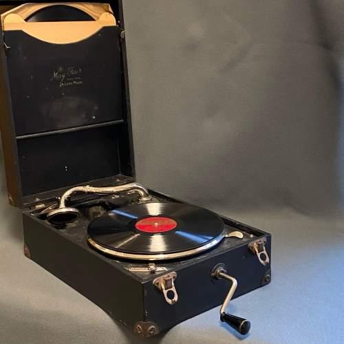 20th Century Mayfair Deluxe Model Portable Gramophone image-1