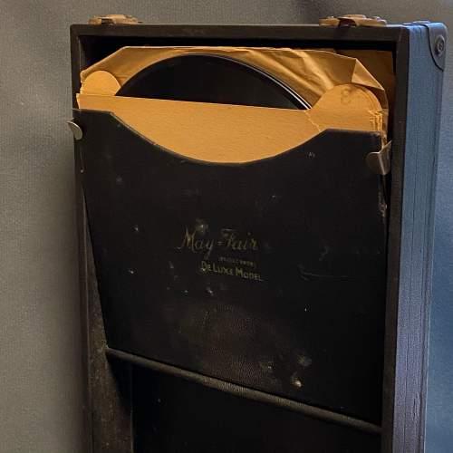 20th Century Mayfair Deluxe Model Portable Gramophone image-5