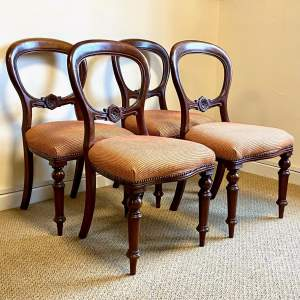 Set of Four Balloon Back Dining Chairs