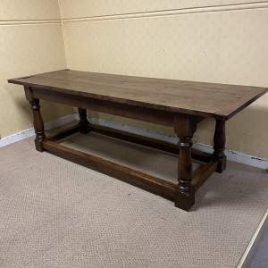 Wonderful Quality 20th Century Oak Refectory Dining Table