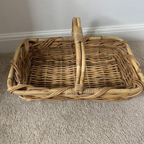 Trug Style Bamboo and Wicker Basket image-1
