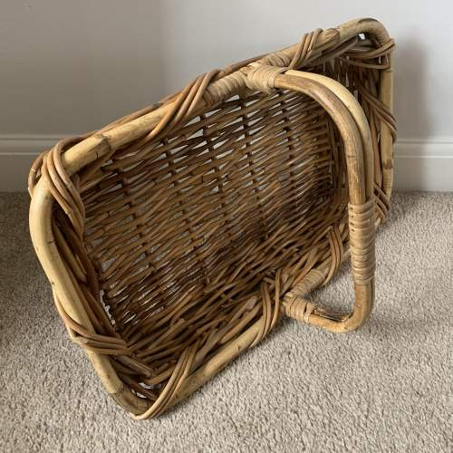 Trug Style Bamboo and Wicker Basket image-2