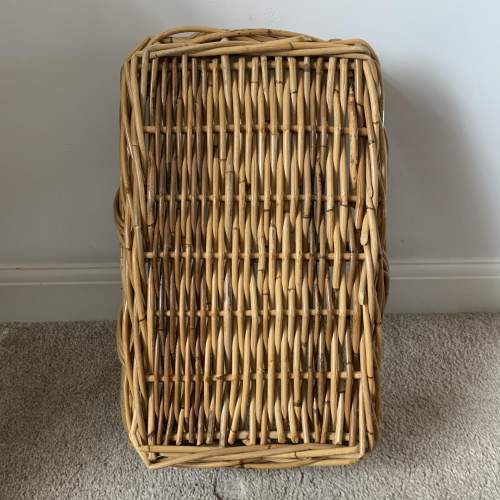 Trug Style Bamboo and Wicker Basket image-3