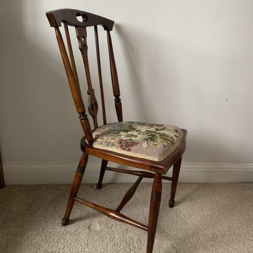 Rosewood Embroidered Seat Side Chair image-3