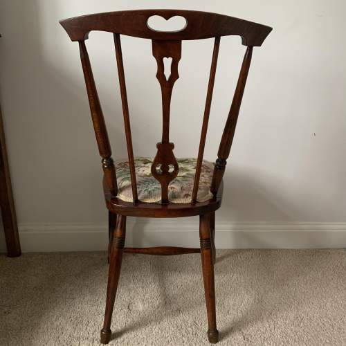 Rosewood Embroidered Seat Side Chair image-4