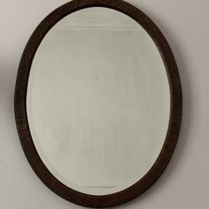 Oak Framed Bevelled Edge Oval Mirror