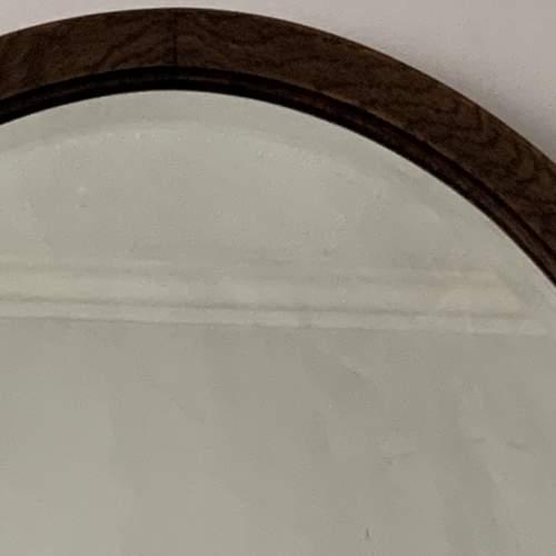 Oak Framed Bevelled Edge Oval Mirror image-2